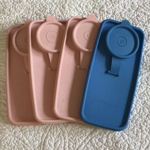 Tupperware Lids Quantity of 4 EUC